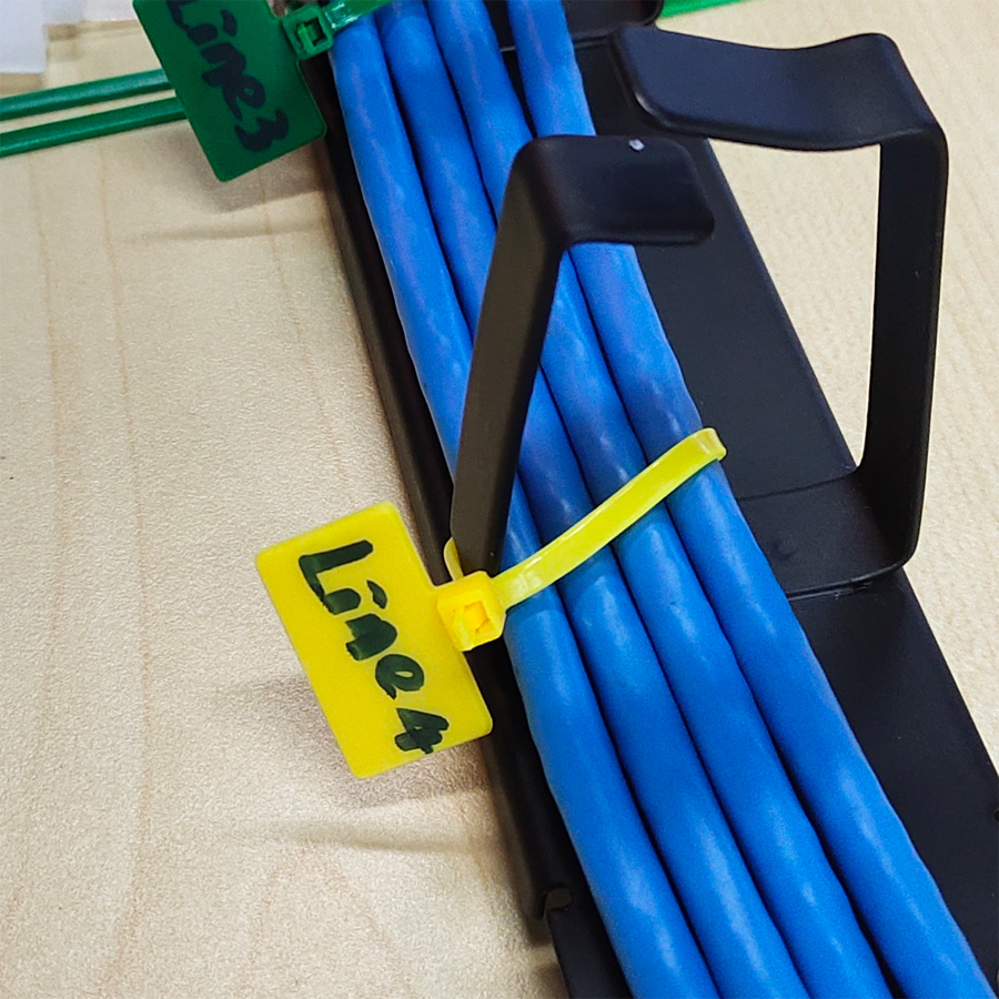 writable cable tie for cabling solution