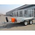 Remorque à benne basculante profonde de cage de boîte galvanisée chaude pour l'usage de ferme