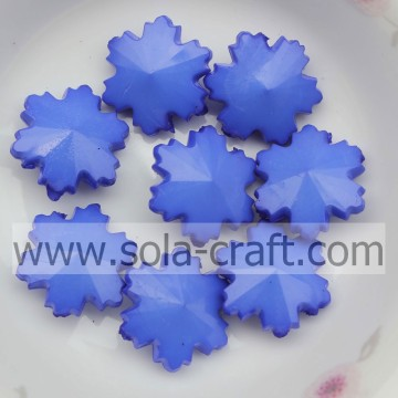 790PCS/Lot 14MM Opaque bleu Chunky gros flocon artificiel acrylique conclusions perle verre