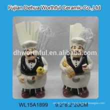 Porta-utensilios de cocina promocionales con figurilla de chef