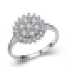 Feminino 925 Sterling Silver Snowflake Personalidade High-End Personalizado Anel De Casamento