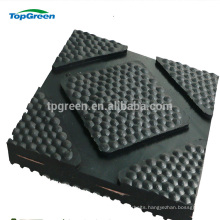 groove bottom hammer top cow mat with cloth