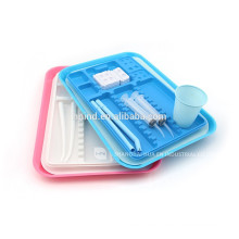 Most popular Autoclavable Plastic Tray/dental instrument tray many colours