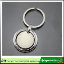 Porte-clés en métal rond de forme ronde