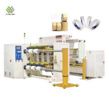 Máquina de rebobinado y corte de cinta autoadhesiva de rollo gigante