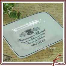 Placa de jabón de cerámica rectangular