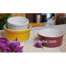 KC-04003high calidad cerámica palomitas bowl, cuenco de cerámica, niños tazón