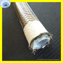 Tuyau de téflon avec la tresse de fil d'acier couvrent le tube