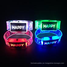Artículos de Navidad 2016 Led Light Up Flashing Led Bracelet