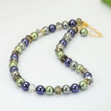 Colored Pearl  Necklace Vintage
