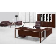 Moderne Melamin Braun Executive Tisch mit Aluminiumrahmen (FOHBE22-B1)