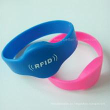 Pulsera RFID de silicona con chip Hf para control de acceso