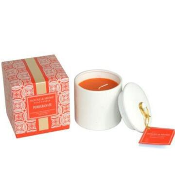 colorful ceramic soy scented candle with lid
