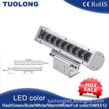 CE RoHS IP65 RBG DMX512 18w 26w 36w led wall washer