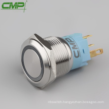 CMP 19mm diameter stainless steel dual color illuminated push button switch