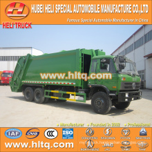 DONGFENG 6x4 16/20 m3 heavy duty rear loading refuse truck diesel engine 210hp with pressing mechanism