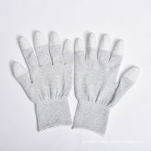 PU Coating on Palm and Fingers Nylon/Polyester Gloves