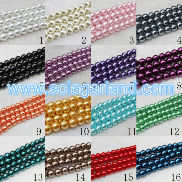 Groothandel 4-16MM glas parel Spacer losse kralen Charms