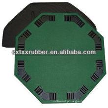 Tapete de mesa de pôquer de mesa, bancada de cassino segurável com 8 lugares