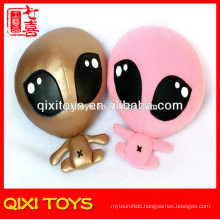 stuffed plush 3d photo face dolls plush alien doll