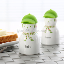соль и перец с силиконовой крышкой,зеленая наклейка