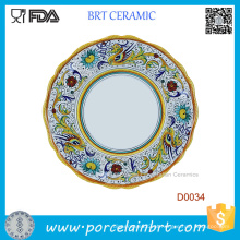 Placa de ovo de porcelana de dragão chinês de venda quente