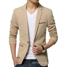 Los hombres de OEM Slim Fit Blazer Fashion Cotton Outwear Blazer