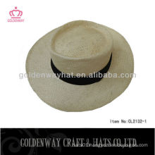 cheap 100% natural straw latest boater seagrass straw hat
