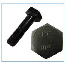 Boulon structural de haute résistance de tête d'hexagone (DIN 6914)