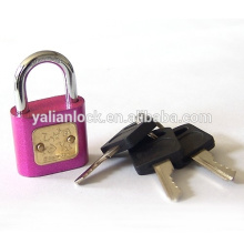 Mini Cute Carton tipo Colorful Padlock, Coréia Estilo Com Atomic plástico identificador Key, cor pintada segurança cadeado