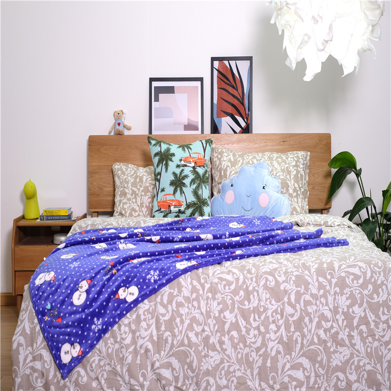 Printed Flannel Coral Bed Blankets