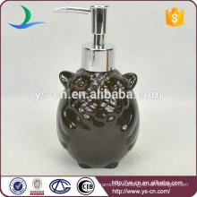 Botella de cerámica del bote de cerámica del búho del negro