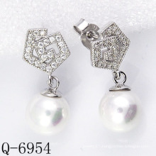 Latest Styles Cultured Pearl Earrings 925 Silver (Q-6954)