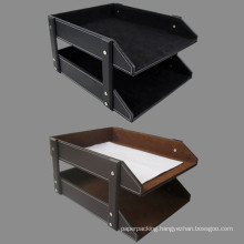 2 Tier Leather Document File Tray