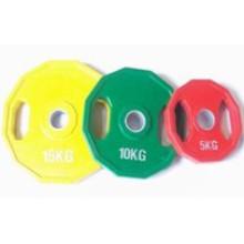 De borracha cor peso amortecedor placa Barbell, peso de haltere (USH-702)