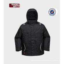 Boa roupa da segurança dos homens do parka do inverno do projeto com emenda da fita