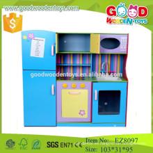 2015 nuevo diseño pretenden jugar niños muebles de cocina de madera juguetes