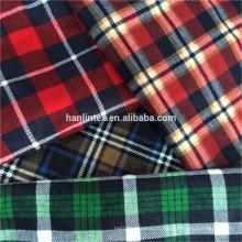 Tecido de flanela xadrez tecido de flanela de cheque atacado para camisa