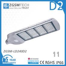 Luz de calle LED de alta calidad cubierta de vidrio templado resistente al impacto