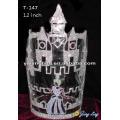 Large Rhinestone Castle Crown Cinderella Shape