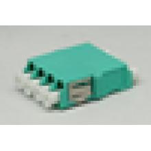 LC / UPC to LC / UPC 4 с фланцевым адаптером из пластмассового волокна