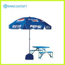 Guarda-chuva do pátio de praia ao ar livre de publicidade