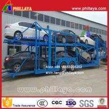 Semi-remorque porte-essieux type essieu central (12 m de long pour 8 voitures)