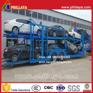 Mittelachse Typ Car Carrier Semi Trailer (12m lang für 8 Autos)