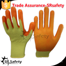 SRSAFTY 13 gauge polyester coated latex on palm working gloves