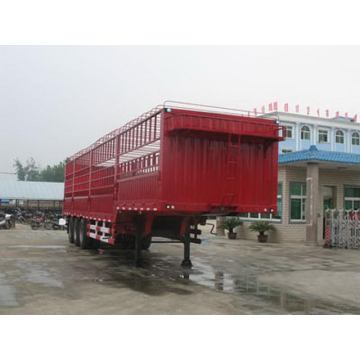 13m Tri-roda Box saham transportasi Semi Trailer
