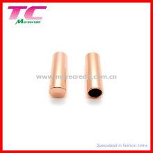 Almofadas de metal de ouro rosa para cordões de Trouse