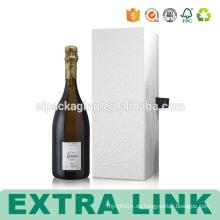 Gewelltes Flaschen-Gold, das Weißwein-Papier-Verpackenkasten stempelt