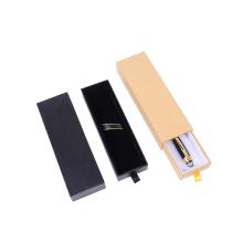Boîte de rangement de cadeau de papier de stylo vide de carton fait sur commande