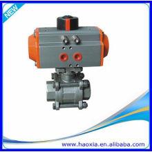 Vanne à bille pneumatique DN50 en acier inoxydable 3PCS avec Q611F-16P